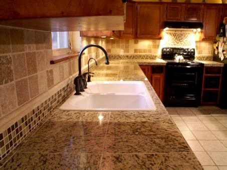 tile floor kitchen diy granite counters and tile back splash oak cabinets 4604