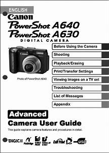 Canon Powershot A630 A640 Digital Camera User Guide