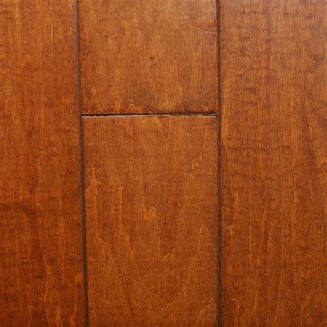 scraped maple flooring millstead hand scraped maple nutmeg 1 2 in thick x 5 in wide x random length engineered