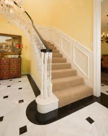 marble foyer traditional staircase dallas by american tile