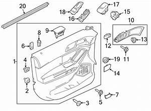 Ford Explorer Door Window Switch Bezel  Right  Trim