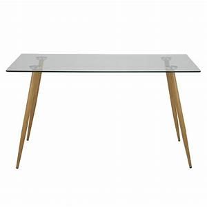 Table Haute En Verre : tables en verre table haute design scandinave en verre et bois ch ~ Teatrodelosmanantiales.com Idées de Décoration