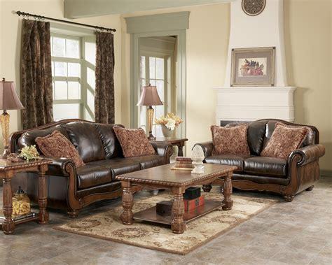 barcelona antique living room set  ashley