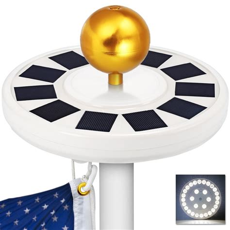 solar flag light best solar flagpole lights ledwatcher