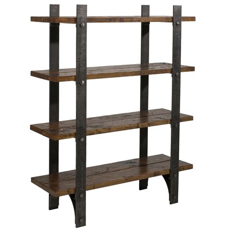 iron and wood bookcase wrought iron retreat bookcase by charleston forge