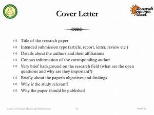 how to write cover letter journal submission With how to write a cover letter for a manuscript submission