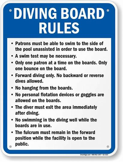 Diving Rules Board Sign Georgia S2 1521