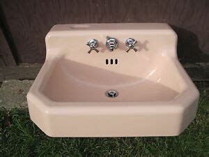 antique vintage american standard pink bathroom sink