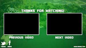 minecraft youtube outro free by saiverx on deviantart With minecraft outro template movie maker
