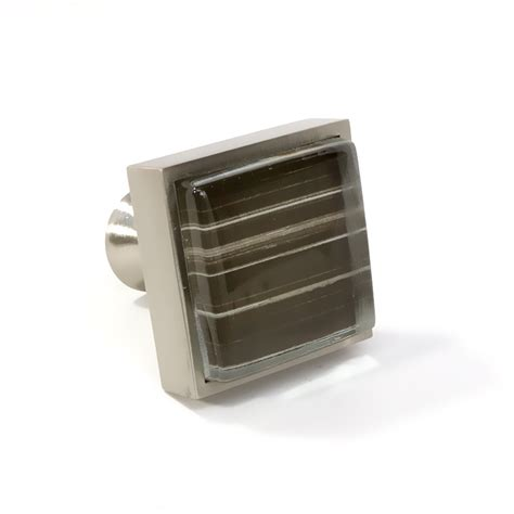 Square Cabinet Knobs by Glass Brushed Nickel Square Knob Modern Cabinet