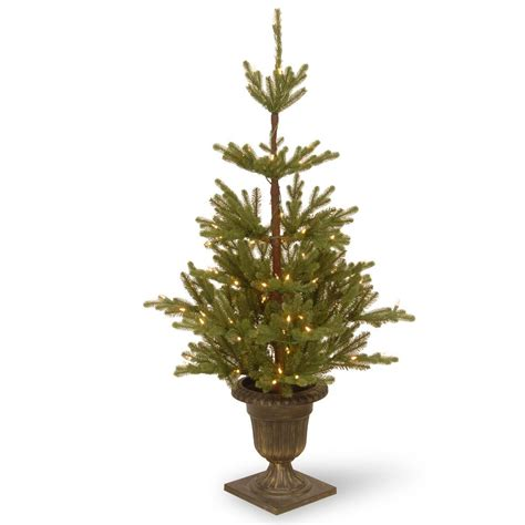 fake tree with lights national tree company 4 5 ft imperial spruce entrance
