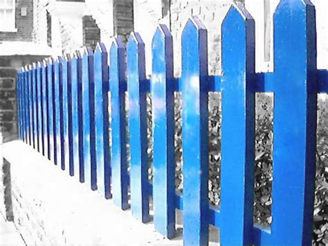 Blue-Fence