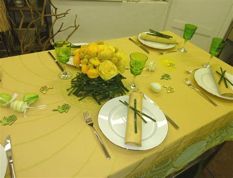 decoration de la table pour paques