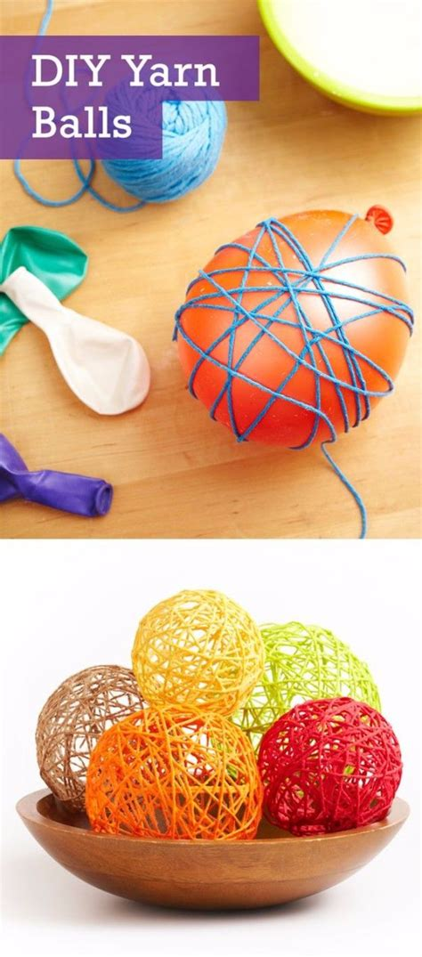 easy crafts    sell yarn ball homemade