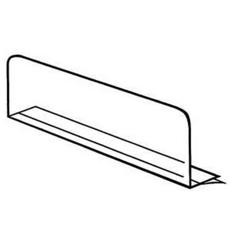 clear shelf dividers clear adhesive shelf dividers 16 quot x 3 quot pack of