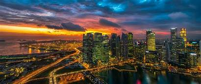 Monitor Ultrawide Wallpapers Glowing Singapore Wallpapersafari