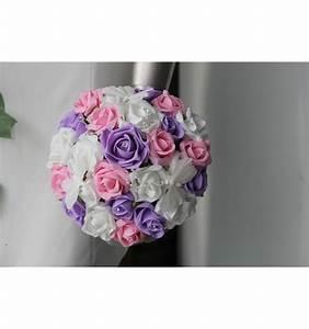 Bouquet De La Mariée : bouquet de mari e th me parme et rose avec des perles et ~ Melissatoandfro.com Idées de Décoration