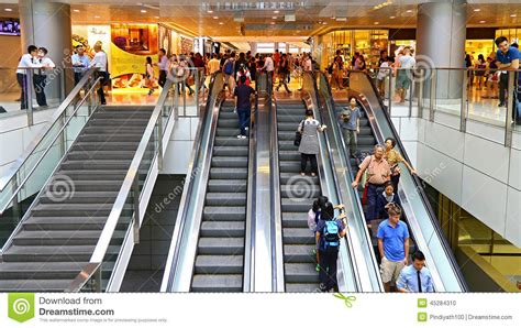 people  escalators   shopping mall editorial image image  crowd complex
