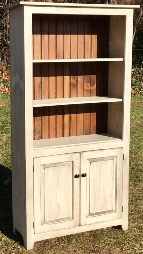 Bookcase With Doors White by New Bookcase With Doors Antique White Stock
