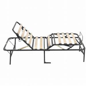 Bed Frame Folding Adjustable Positions Head Wood Fold Slat
