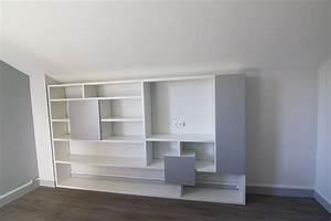 Bibliothèque Moderne Design : une biblioth que sur mesure moderne et design chamb ry ~ Teatrodelosmanantiales.com Idées de Décoration