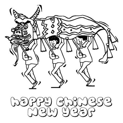 chinese  year coloring page coloring home