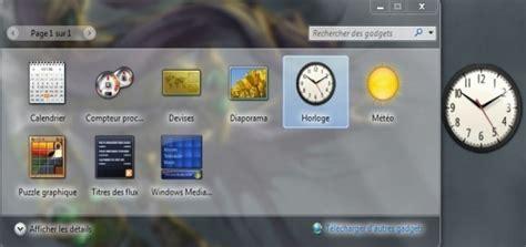 ajouter des gadgets sur windows 7 astuces pratiques