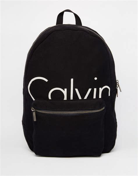 drawstring bag calvin klein backpack logo