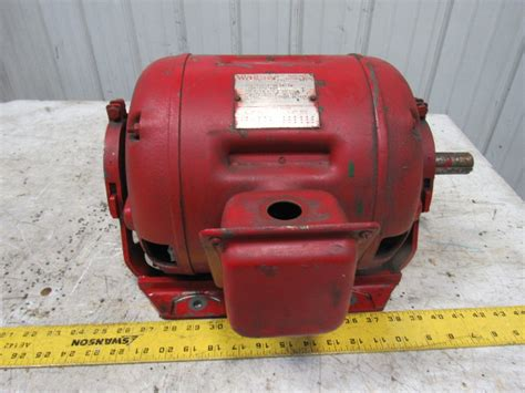 Wagner Electric Motors by Wagner Rp1 5hp 1750 1450rpm 3ph 208 220 440v 1 1 8 Quot Shaft