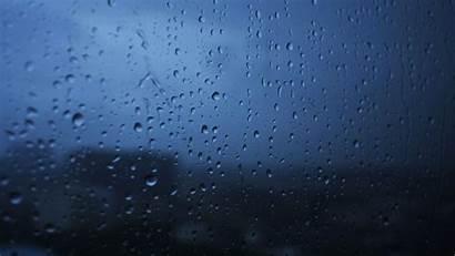 Rain Drops Glass Background Wet Moody Window