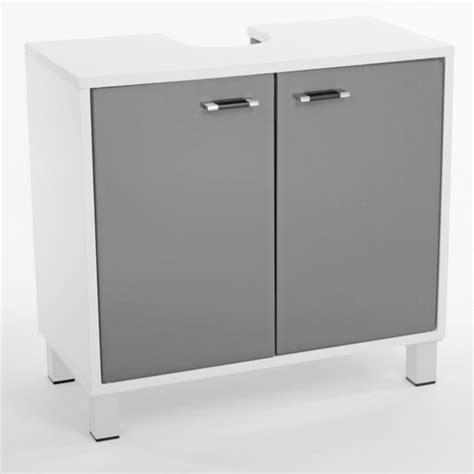 meuble cuisine salle de bain meuble sous lavabo xeno blanc gris