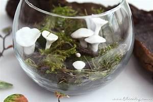 Deko Im Glas Ideen : herbst im glas deko pilze aus kaltporzellan ~ Orissabook.com Haus und Dekorationen