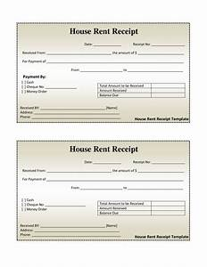 Free House Rental Invoice House Rent Receipt Template