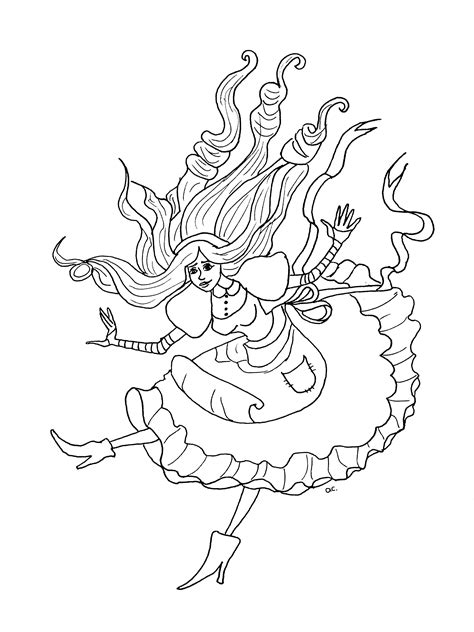 85 Alice In Wonderland Coloring Pages For Adults