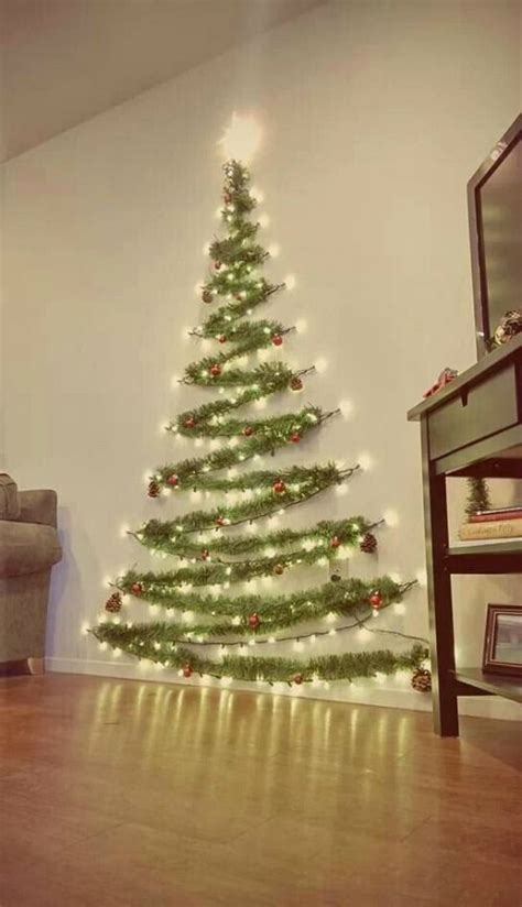 space saver wall christmas tree home decor