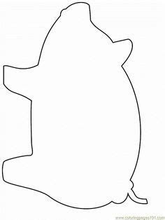 Free printable template of pig Great for the Three Little
