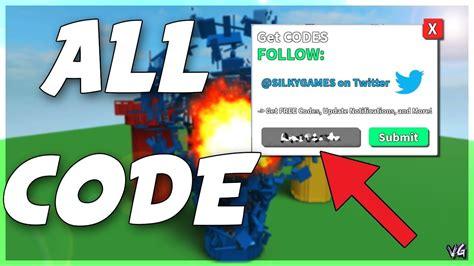codes  destruction simulator roblox youtube