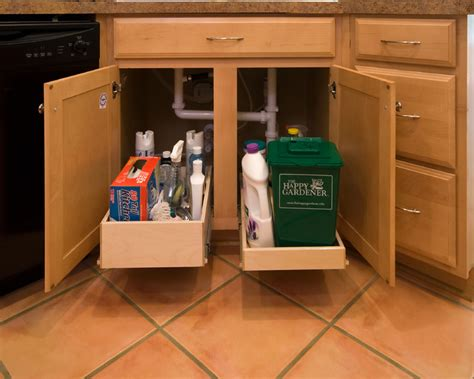 under cabinet pull out shelf shelfgenie pull out shelves for under the sink kitchen
