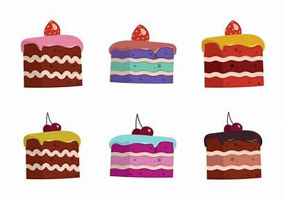 Cake Slice Vector Illustration Isolated Clipart Pie