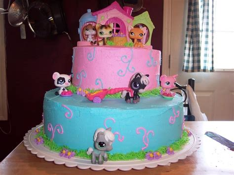 littlest pet shop birthday cakes party time lps