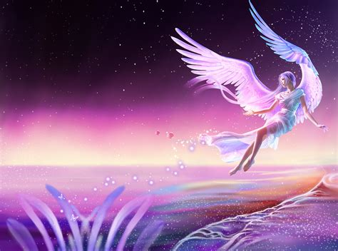 beautiful fantasy angel poster background psd beautiful