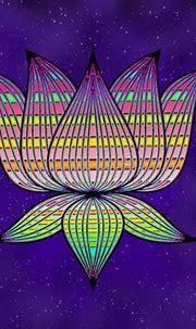 Abstract Design Of Lotus Flower Stock Illustration ...