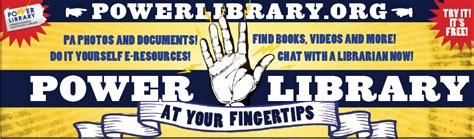 » Promotional Materials  Power Library