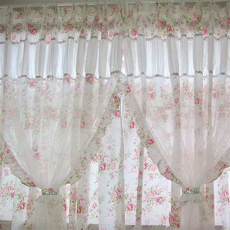 shabby chic curtains for kitchen shabby chic curtain