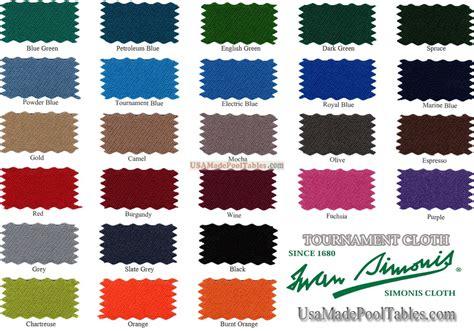 pool table cloth colors pool table billiard simonis cloth tournament felt