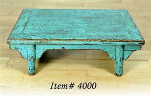rustic antique blue coffee table elm wood asian stand ebay With blue rustic coffee table