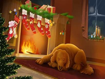 Christmas Fireplace Amazing Nights Wallpapers Merry Hq