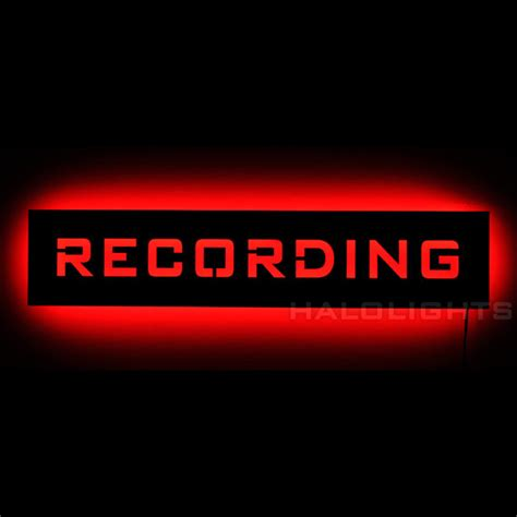 studio on air light lighted recording warning sign led backlit on air by