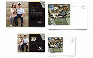 Real Estate Brochure Templates Free Military Postcard Template Design