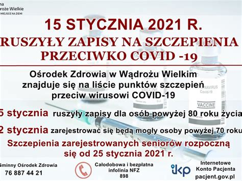 Jak przygotować się do szczepienia na koronawirusa? Ruszają zapisy na szczepienia przeciwko COVID-19 - Wądroże Wielkie - Twoje miejsce na ziemi!